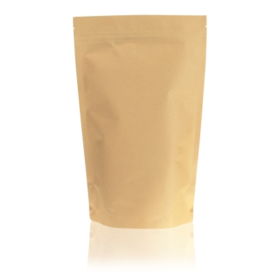 Lamizip Kraft Paper Stand Up Pouches 220 mm x 335 mm Brown