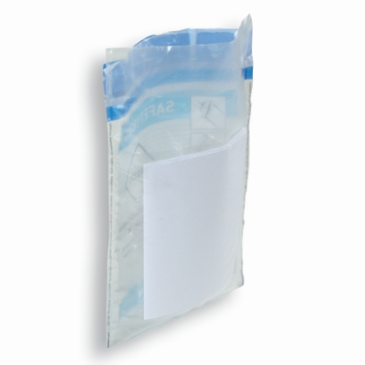 Safetybag met compartment 165 mm x 265 mm Transparent