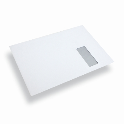 Paper Envelope Window Right A4/ C4 White