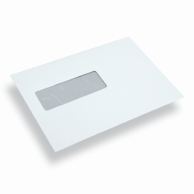 Enveloppe administrative blanche fen tre gauche a5 c5 for Enveloppe fenetre a gauche