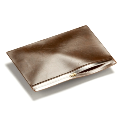 Pochette PVC refermable A4/ C4 Marron