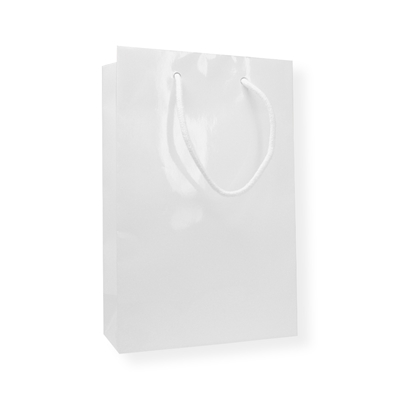 Glossy Bags 9.84 inch x 6.30 inch White