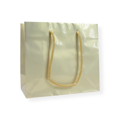 GlossyBag Pearl White 420 mm x 370 mm Gold