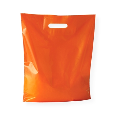 Baggie Carrier Bags 14.96 inch x 17.32 inch Orange