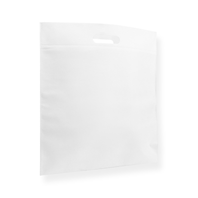 Non Woven Carrier Bags 400 mm x 450 mm White