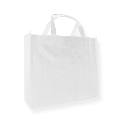 Non Woven Carrier Bags 400 mm x 350 mm White