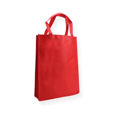 Non Woven Carrier Bags 310 mm x 410 mm Red