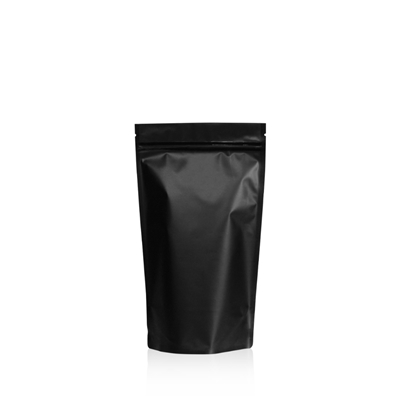 Lamizip Colour Stand Up Pouches 120 mm x 210 mm Black