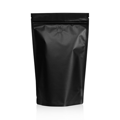 Lamizip Colour Stand Up Pouches 185 mm x 295 mm Black