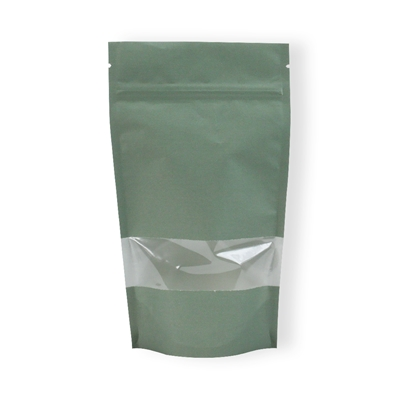 Lamizip Kraft Paper with window 120 mm x 210 mm Green