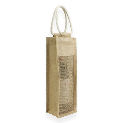 Jute Wine Carrier Bag Brun