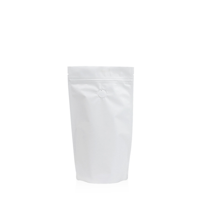 Lamizip Colour Stand Up Pouches 4.72 inch x 8.27 inch White