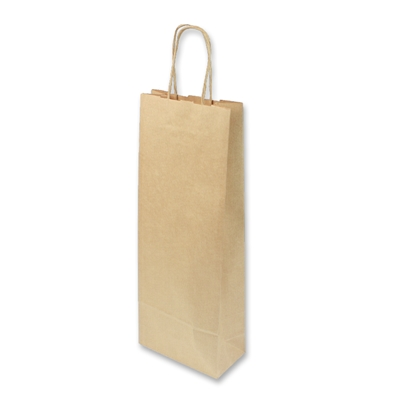 Paper Wine bag 150 mm x 400 mm Brown