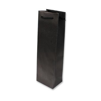 Paper Wine bag 120 mm x 400 mm Black