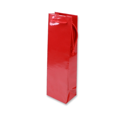 Paper Wine bag 120 mm x 400 mm Red