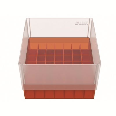 Storage box 49 tubes Red