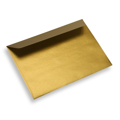 Coloured Paper Envelope Gold