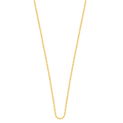 Stalen gold plated muntketting 80 cm. (1015729)