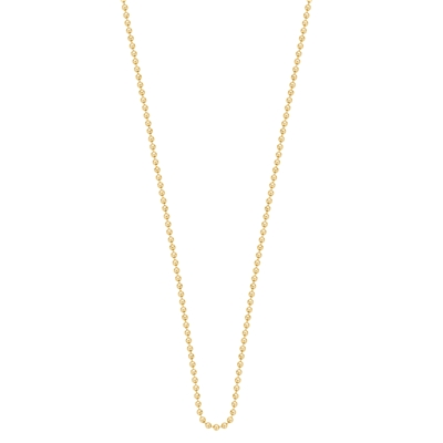Stalen gold plated ketting 100 cm (1018954)