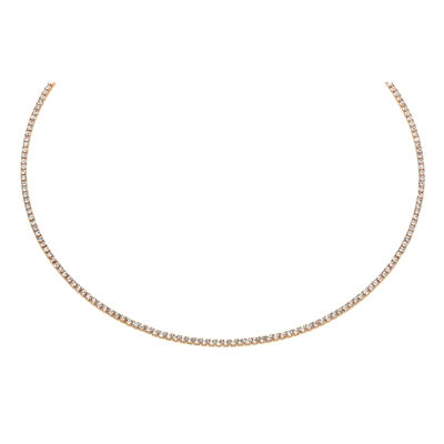 Eve rose plated ketting 1rij  kristal (1021104)