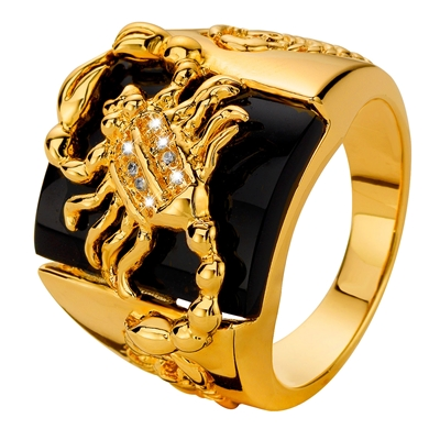 Gold plated ring schorpioen (1013438)