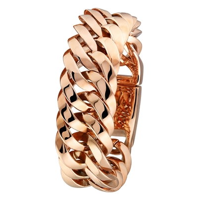 Stalen rose plated armband (1018755)