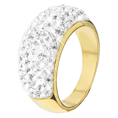 Eve gold plated ring met kristal (1018940)