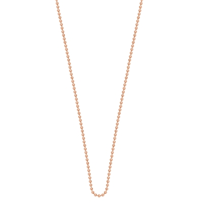Stalen rose plated ketting 90 cm (1018955)