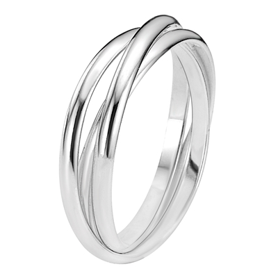 Zilveren driedelige ring (37937447)