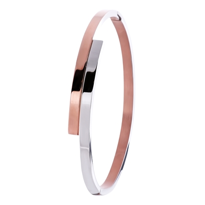 Stalen armband rose/staal (1026816)