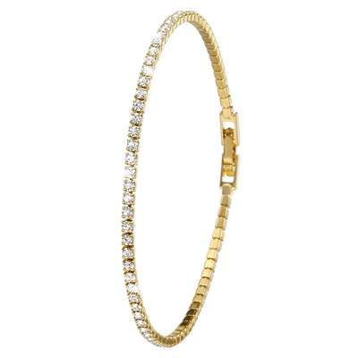Eve gold plated armband 1rij met kristal
