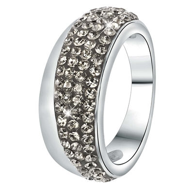 Stalen ring black diamond kristal (1034084)