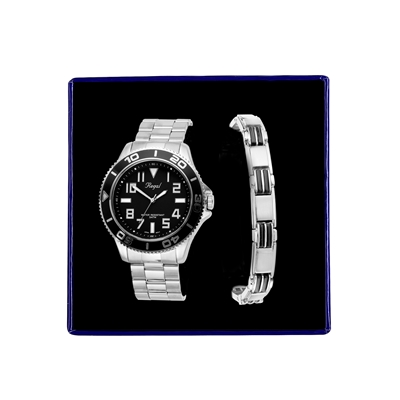 Stalen set armband & Regal horloge R14793-212 (1034866)