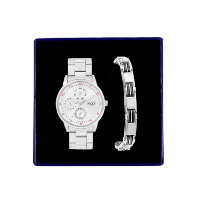 Stalen set armband & Regal horloge R15973-612  (1034868)