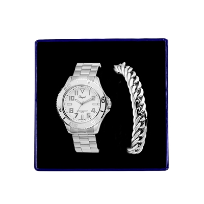 Stalen set armband & Regal horloge R14793-112 (1034877)