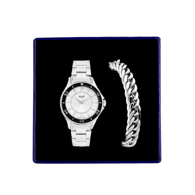 Stalen set armband & Regal horloge R46463-662  (1034879)