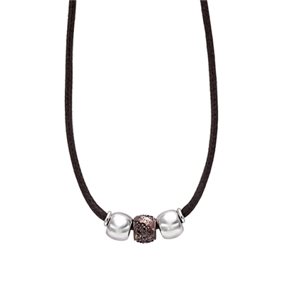 Bliss zwart lederen collier (1035203)