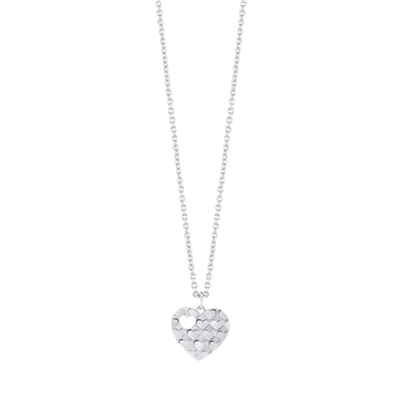 Guess rhodiumplated ketting hart (1036677)