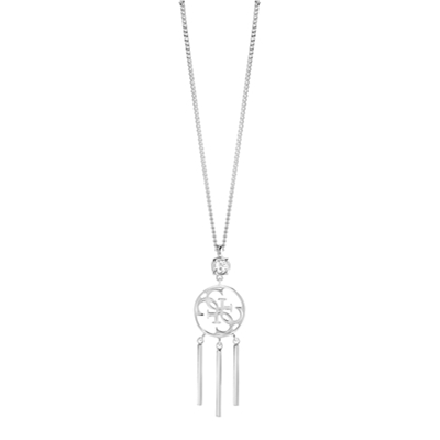 Guess rhodiumplated ketting met Swarovski (1036689)