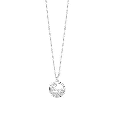 Guess rhodiumplated ketting met Swarovski (1036690)