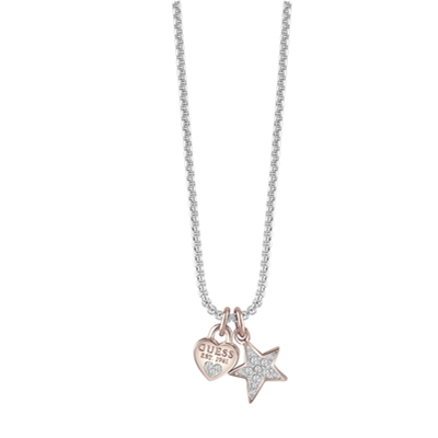Guess rhodiumplated ketting met Swarovski (1036693)