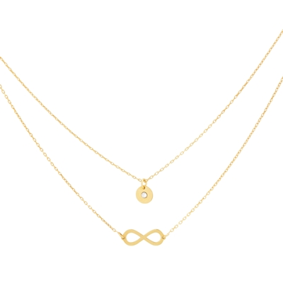 Super Stylish zilveren ketting gold infinity (1037844)