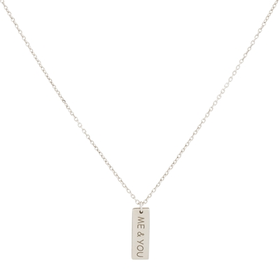 Super Stylish zilveren ketting  (1037873)