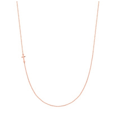 Super Stylish zilveren ketting rose kruis (1037928)