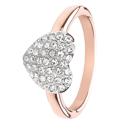 Buckley London roseplated ring hart kristal small (1030411)
