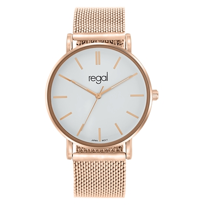 Regal mesh horlogemet rosekleurige band (1036814)