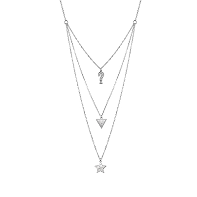 Guess rhodiumplated ketting Swarovski kristal (1041081)