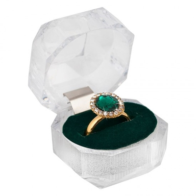 Montini byoux ring in giftbox, groen (1031547)
