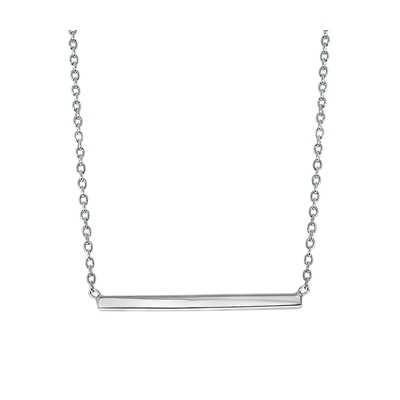 Zilveren ketting bar rhodiumplated (1041603)