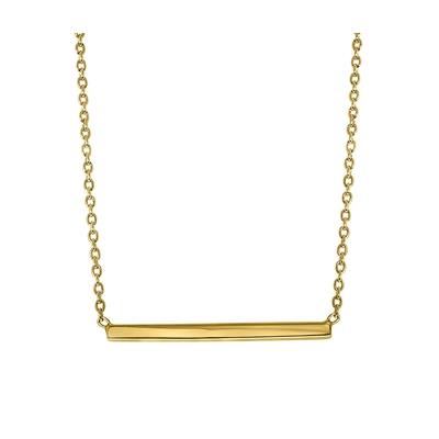 Zilveren ketting bar goldplated (1041604)